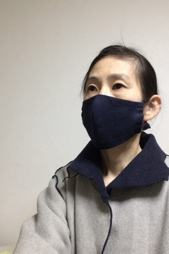 濃紺リネンマスク